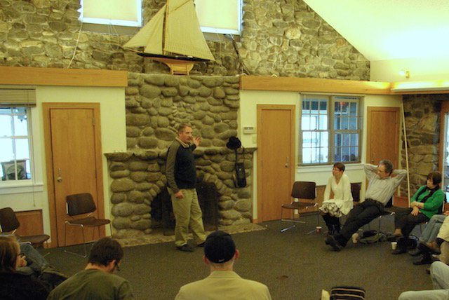 NH Storytelling Association - Granite State Story Swap - storyteller in story circle